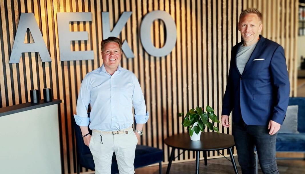 NYTT KONTOR: AEKO Gruppen har flyttet fra Kolbotn til Rosenholm Campus. Andreas Wilsgård (t.v.) og Arne Erik Rønningen er svært fornøyde med de nye lokalene.