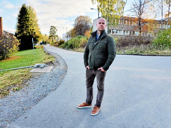 VIKTIG DEL AV B7: – Vi kommer til å jobbe for at WANG Ung Follo etablerer seg på Sofiemyr. Vi ser på dem som en viktig del av B7, som vil bidra til å skape et godt miljø i området, sier utviklingsdirektør i Solon Eiendom, Tom André Svenning-Gultvedt. Foto: Yana Stubberudlien