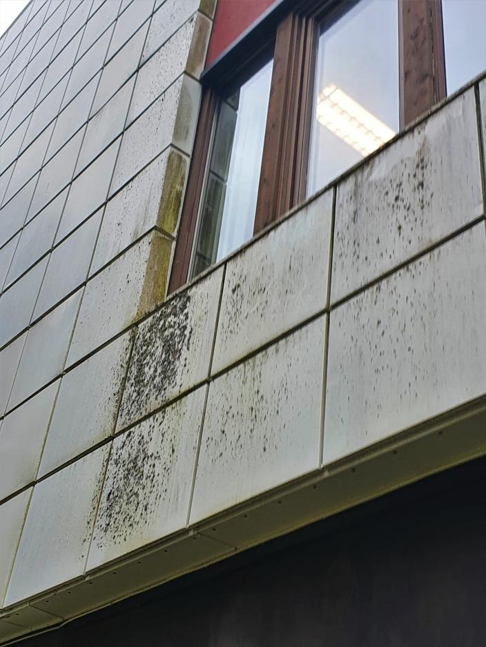 SLIK SER FASADENE UT: Det var for cirka ti år siden at kommunen sørget for utvendig vask av fasadene.