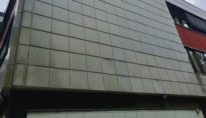 ETT AV HJØRNENE: Slik ser fasadene ut i dag.