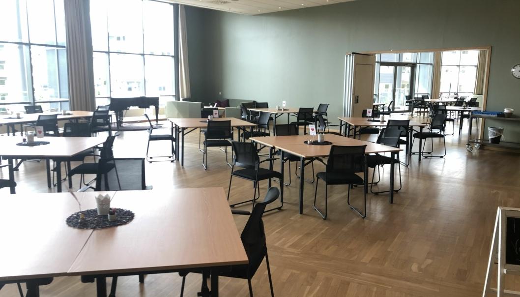 PLASS TIL MANGE? Trenger du plass til mange, kan dette lokalet være midt i blinken.