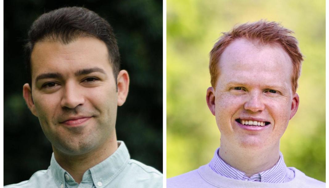 GIR SVAR: Mani Hussaini, 5. kandidat til Stortinget for Akershus Ap (t.v) og Tobias H. Linge: 7. kandidat til Stortinget for Akershus Ap