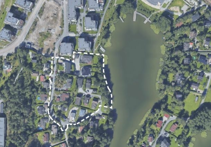 PLANOMRÅDET: Kantorveien-Båtsleppa. Kilde: R21 ARKITEKTER for KTV PROSJEKT
