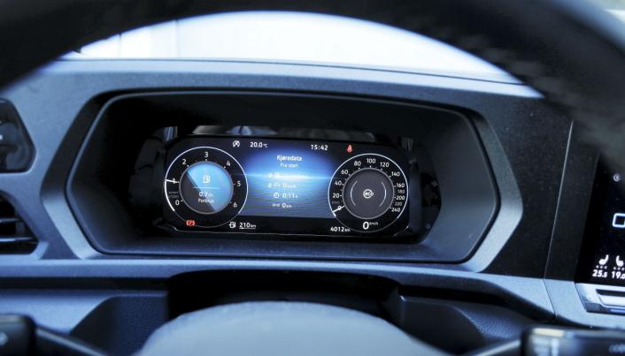 MODERNE: Det digitale instrumentpanelet gir føreren mulighet til å velge oppsett etter eget ønske.