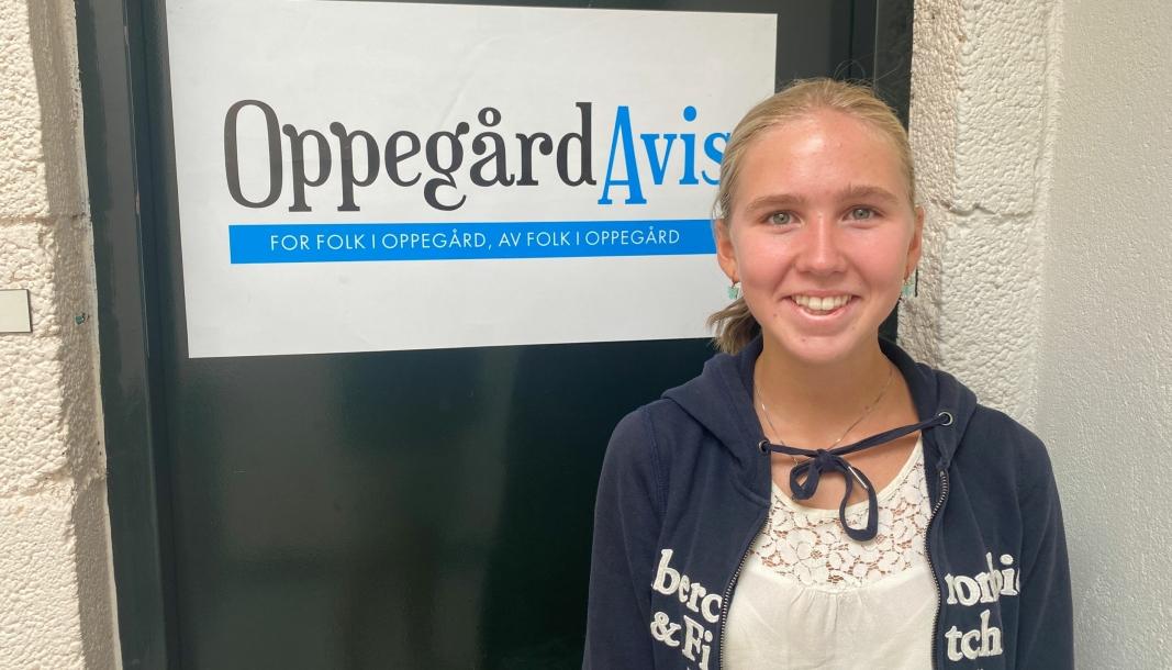 NY PÅ LAGET: Oleanna Utgård Weltzien er en ny penn i Oppegård Avis.