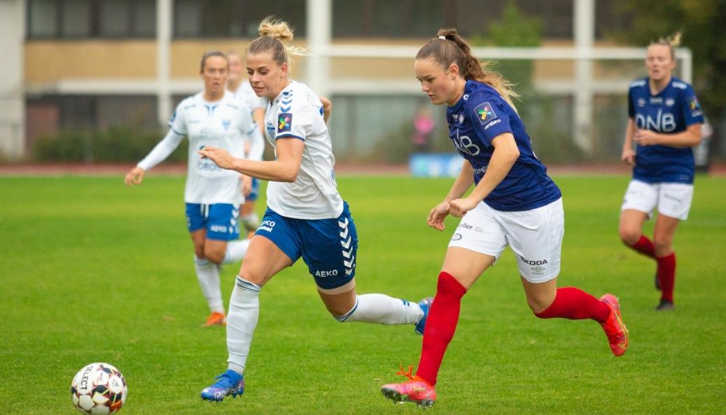 CUP-EXIT: Ingrid Kvervolden og Kolbotn er ute av cupen etter 1-3 mot Vålerenga lørdag ettermiddag.