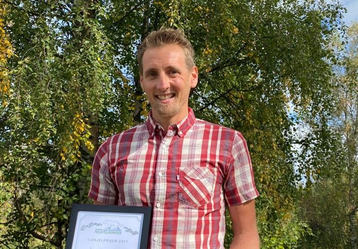 VINNER: Friluftslivprisen 2021 gikk til Anders Baumberger for sin innsats for skøytegåring på Langen og på Kolbotnvannet.
