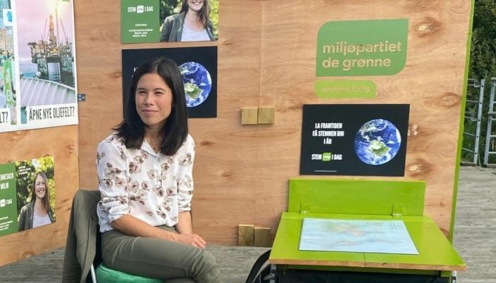 FIKK PLASS: Lan Marie Nguyen Berg sikret seg plass på Stortinget, men for partiet var valgresultatet en stor nedtur.