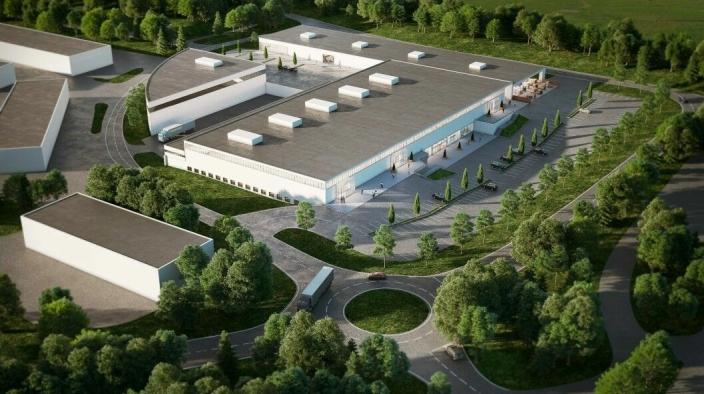 DETTE VAR PLANEN: Kongeveien 49 skal moderniseres. Kontorbygget langs Kongeveien skal rives og det skulle bygges to nye bygg, den ene langs veien på vestsiden og den andre på sørsiden av hovedbygget.
