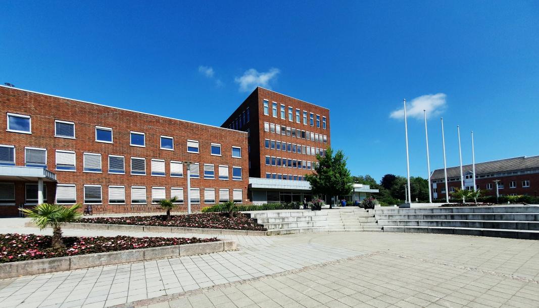 RÅDHUSET: Nordre Follo kommune har sin administrasjon her i rådhuset i Ski.