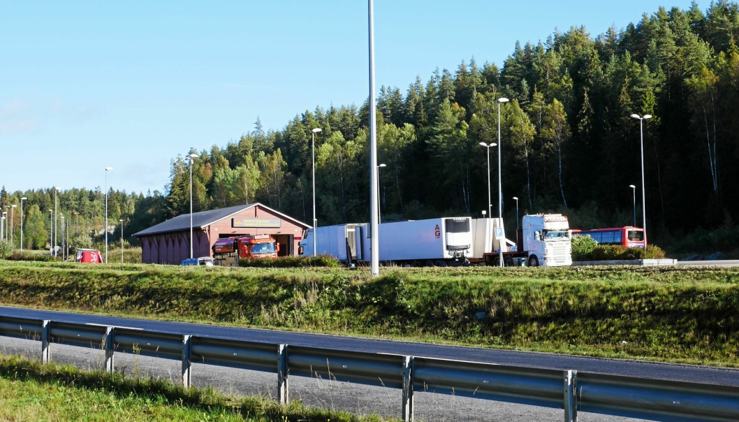 TARALDRUD KONTROLLSTASJON: Taraldrud kontrollstasjon ligger nordøst for Politiets nasjonale beredskapssenter. Foto: Yana Stubberudlien
