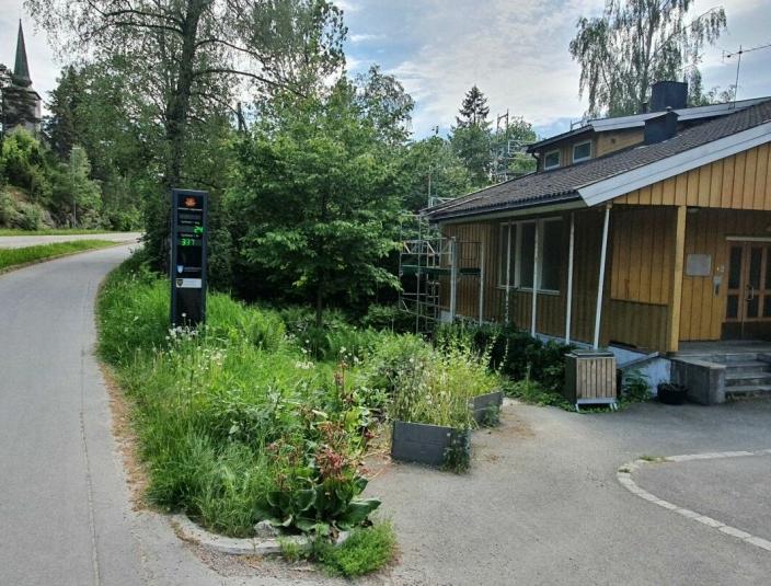 SLIK SÅ DET UT I JUNI: På bildet fra den første uken i juni kan du se kommunale eiendommen i Skiveien 62. Foto: Yana Stubberudlien