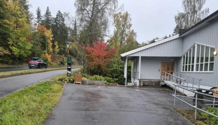 SLIK SER DET UT I DAG: Bildet av eiendommen i Skiveien 62 ble tatt mandag 27. september.