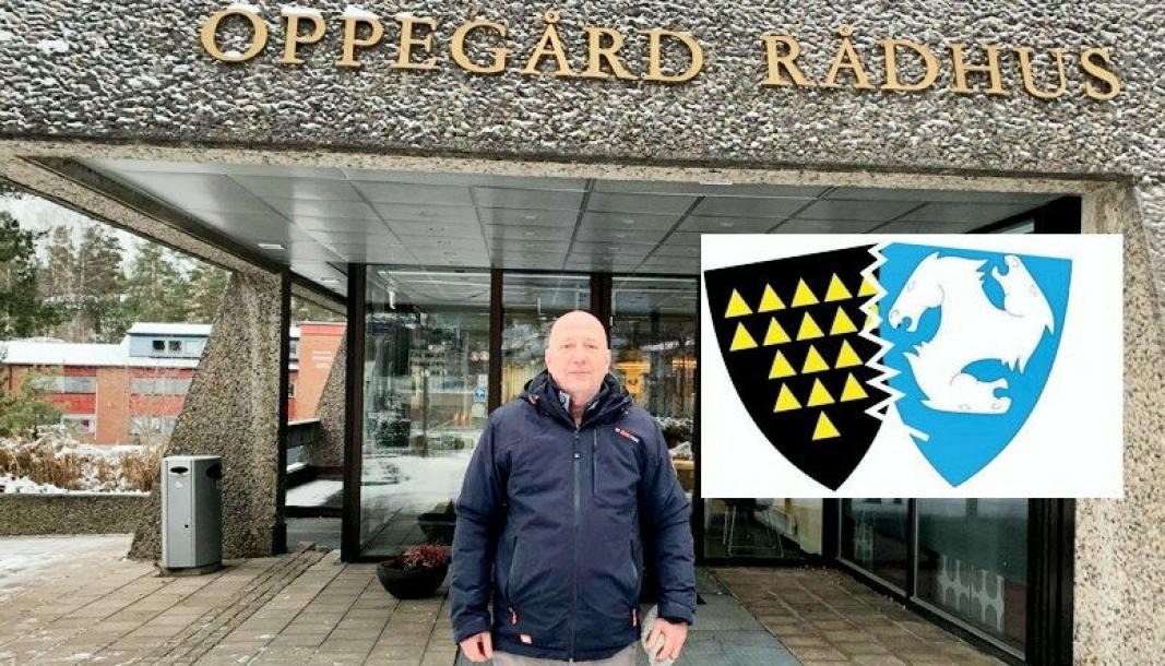 SAMLET 1669 UNDERSKRIFTER: Morten Lerdal ha siden januar 2021 samlet 1669 underskrifter for å tvinge kommunen til å behandle saken om å vurdere Oppegårds løsrivelse fra Nordre Follo.