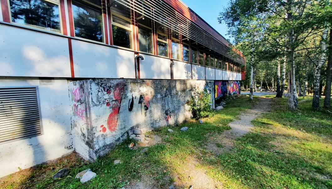 SKAL RIVES: Sofiemyr skole er fra 1963 og er skolebygget i Nordre Follo som er i dårligst forfatning.
