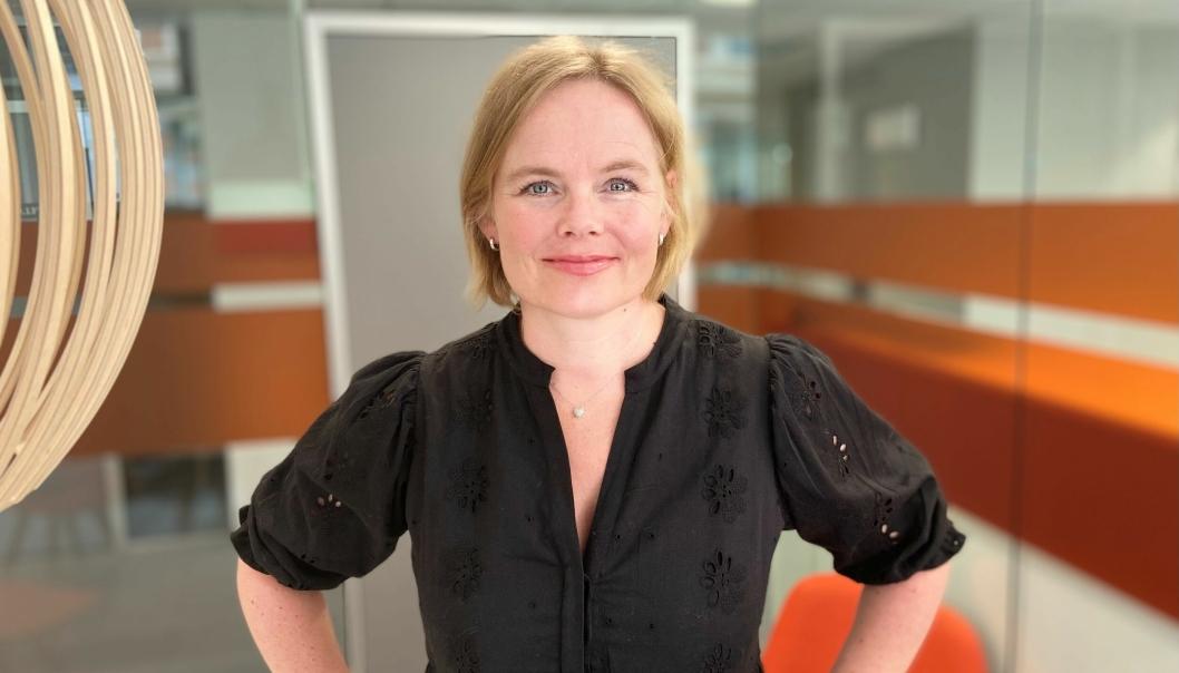 GIR GODE RÅD: Distriktsleder Christine Lager Nesje sier det er viktig å oppdage brystkreft tidlig.