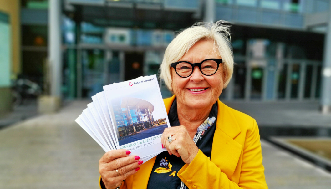 LEDER: Svanhild S. Kvernaas har ledet Seniorakademiet i 30 år.