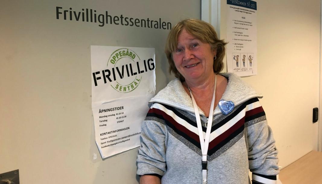 VIKTIG HJELPER: Anne Solhaug fra Frivillighetssentralen i Nordre Follo kommune får mye ros for sin gode støtte.