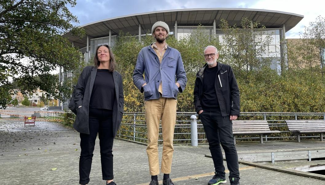 GLEDER DEG: Ida Stenbråten Harildstad og Espen Madsen fra Kullebunden Jazz, gleder seg til å ønske velkommen til Andreas Røysum.