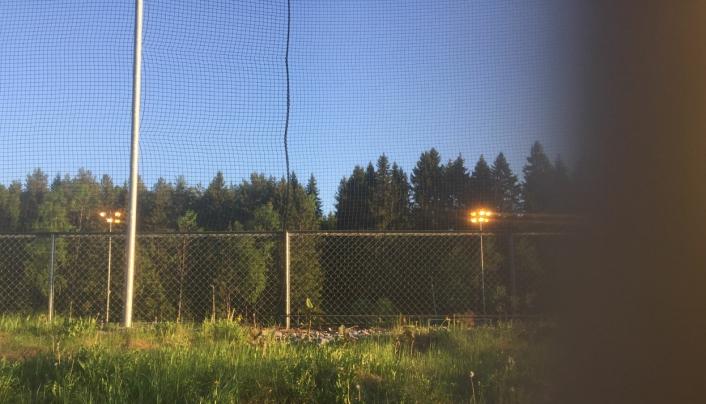 MAI 2018: Dette bildet er fra mai 2018 og viser belysningen på stedet på kveldstid.