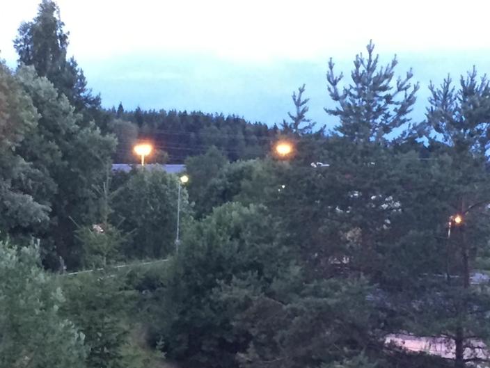MARS 2019: Bildet er fra mars 2019 og viser belysningen på stedet på kveldstid.